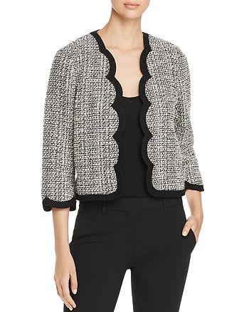kate spade new york - Scalloped Tweed Crop Jacket