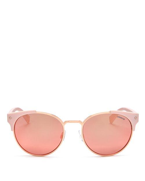 7bb78af0fe Polaroid - Women s Polarized Mirrored Round Sunglasses