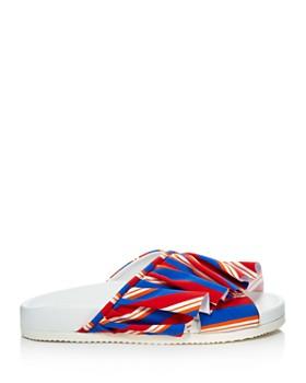 Joshua Sanders - Women's Ruffle Pool Slide Sandals