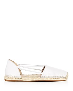 Eileen Fisher - Women's Lee Washed Leather d'Orsay Espadrille Flats