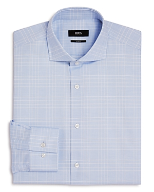 Boss Windowpane Slim Fit Dress Shirt