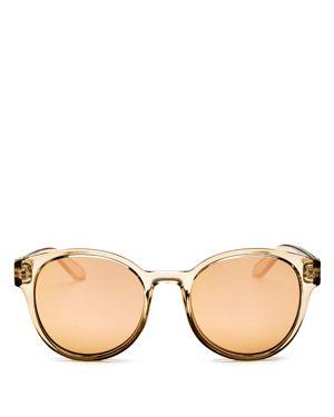 Le Specs Women's Paramount Mirrored Round Sunglasses, 53mm