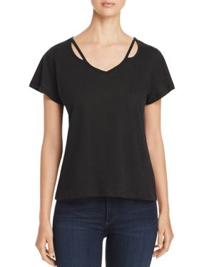 ALISON ANDREWS CUTOUT V-NECK TOP