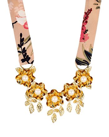 kate spade new york - Botanical Statement Necklace, 16""