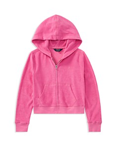 Polo Ralph Lauren Girls' Terry Zip-Up Hoodie - Big Kid - Bloomingdale's_0