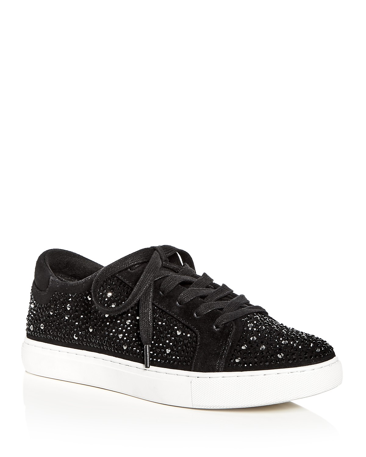 Kenneth Cole Women's Kam Shine Embellished Suede Lace Up Platform Sneakers sZFyw24A0N