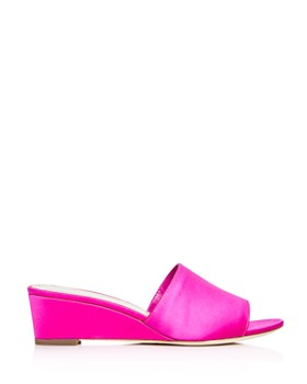 Loeffler Randall - Women's Tilly Satin Wedge Slide Sandals