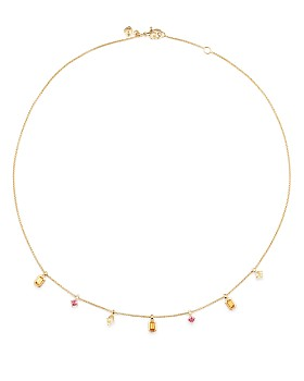 David Yurman - 18K Yellow Gold Novella Necklace with Gemstones & Diamonds