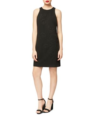BETSEY JOHNSON FLORAL-EMBROIDERED DRESS