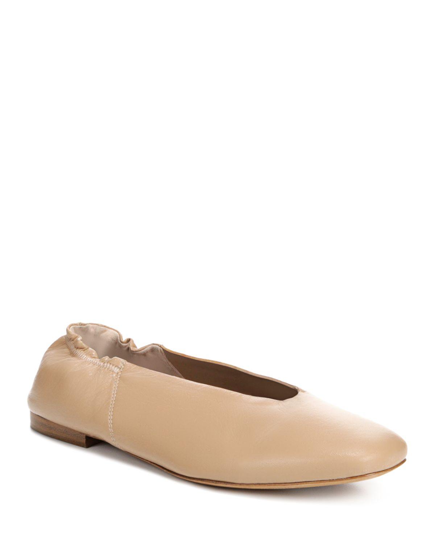 Vince. Woman Leather Ballet Flats Tan Size 9 Vince