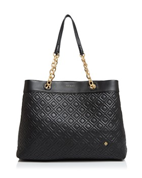 Tory Burch Fleming Triple Compartment Leather Tote
