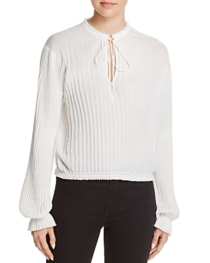 Elizabeth and James Murphy Pleated Knit Top