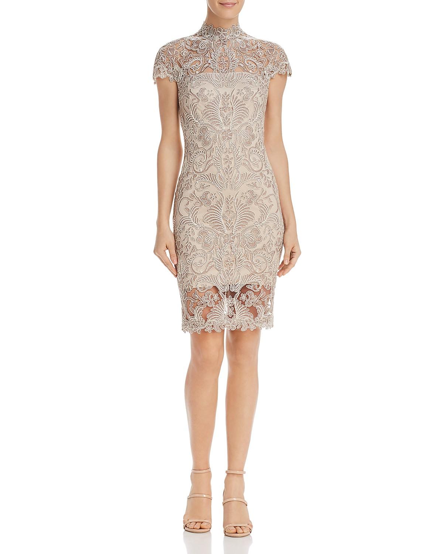 Tadashi Shoji Petites Embroidered Illusion Dress | Bloomingdale\'s