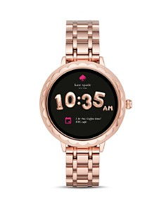 kate spade new york - Rose Gold-Tone Scalloped Case Smartwatch, 42mm