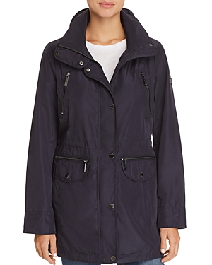 Michael Michael Kors Double Collar Hooded Raincoat