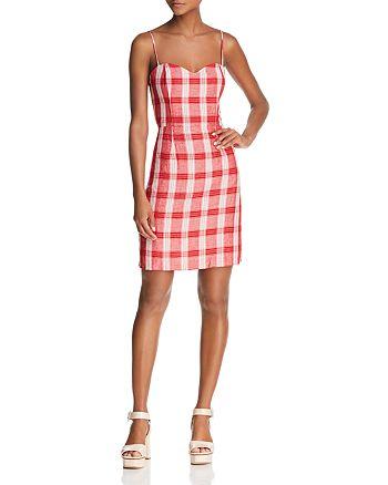 Bardot - Tie-Back Plaid Dress