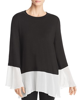 Kim & Cami - Contrast-Trim Top
