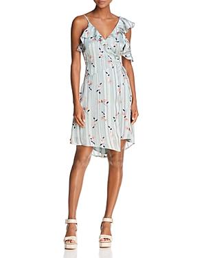 Astr Josie Asymmetric Wrap Dress