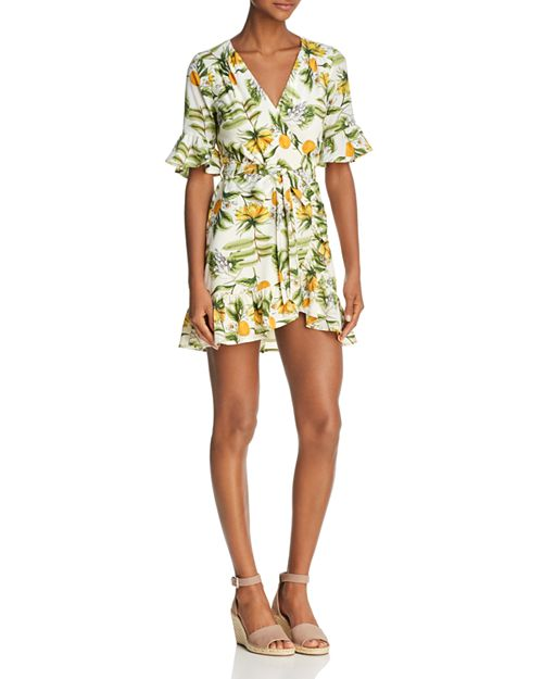 Lost and Wander - Limonada Ruffled Mini Dress