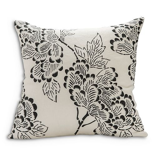 "Sugar Feather - Peony Light Decorative Pillow, 22"" x 22"""