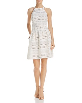 Eliza J - Perforated Scuba Dress