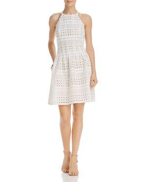 Eliza J Perforated Scuba Dress 2869347