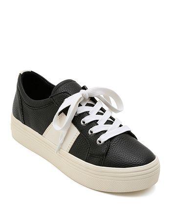 Dolce Vita - Women's Tavina Leather Lace Up Platform Sneakers