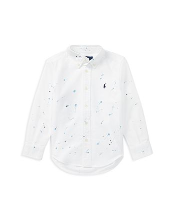 2a6b9ff87 Ralph Lauren Boys' Paint-Splatter Oxford Shirt - Little Kid ...