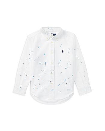 Ralph Lauren - Boys' Paint-Splatter Oxford Shirt - Little Kid
