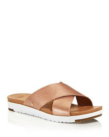 09f48a8ce7e UGG® Women's Kari Leather Slide Sandals | Bloomingdale's