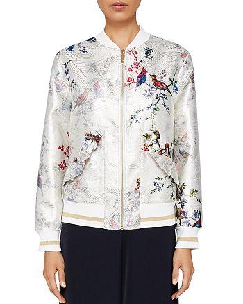 f8d020741458 Ted Baker - Tanzi Opulent Fauna Ornate Bomber Jacket