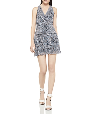 BCBGeneration Paisley Print Ruffled Dress