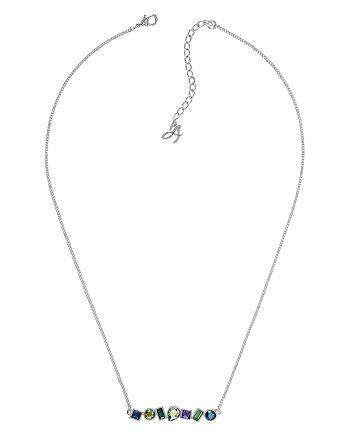 "ADORE - Mixed Crystal Bar Necklace, 16"""