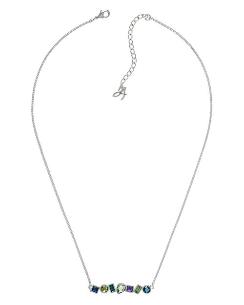 ADORE - Mixed Crystal Bar Necklace, 16""