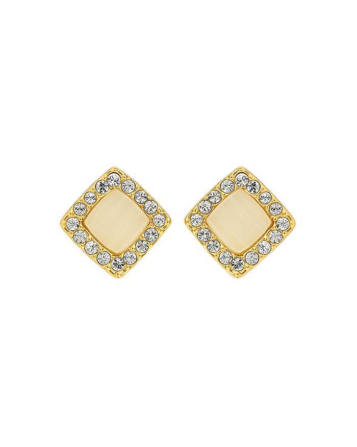 ADORE - Resin & Pavé Stud Earrings