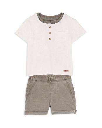 Hudson - Boys' Henley Tee & Knit Shorts Set - Little Kid
