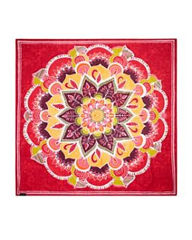 Fraas - Floral Medallion Print Square Scarf