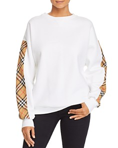 Burberry - Bronx Plaid-Trimmed Sweatshirt