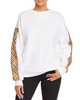 Burberry - Bronx Plaid-Trimmed Sweatshirt