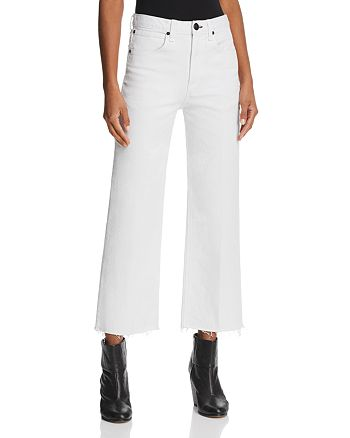 rag & bone/JEAN - Justine Wide-Leg Ankle Jeans in White