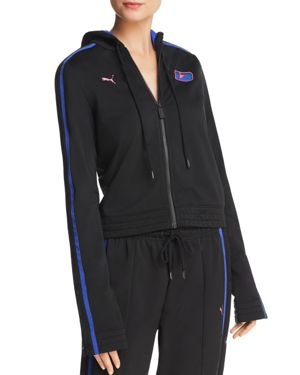 Fenty Puma X Rihanna Snap-Sleeve Track Jacket in Black