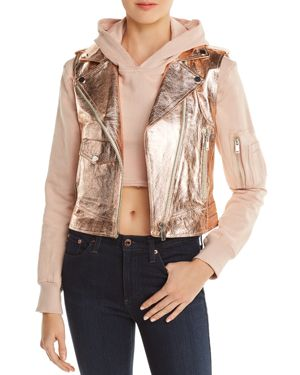 DOMA Hoody & Detachable Metallic Vest in Metallic Pink