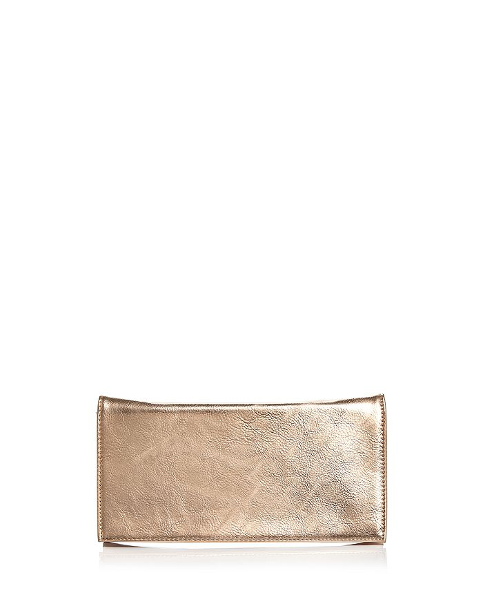 Aqua Metallic Foldover Clutch - 100% Exclusive In Rose Gold/rose Gold