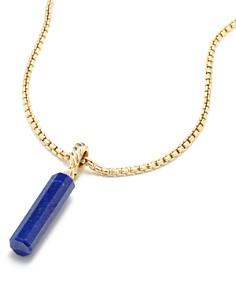 David Yurman - Barrel Charm in Lapis Lazuli with 18K Gold