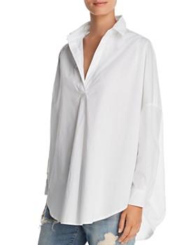 c2f8ebc0 FRENCH CONNECTION - Rhodes Oversize V-Neck Poplin Shirt ...