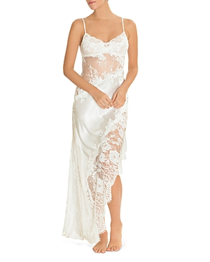 Jonquil SATIN & LACE LONG GOWN