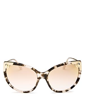 Dolce & Gabbana Women's Mirrored Oversized Cat Eye Sunglasses, 60mm