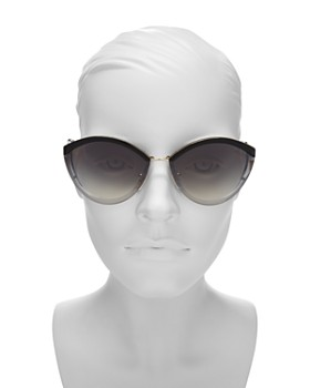 e4b91d857f35 ... 64mm Prada - Women s Mirrored Oval Sunglasses