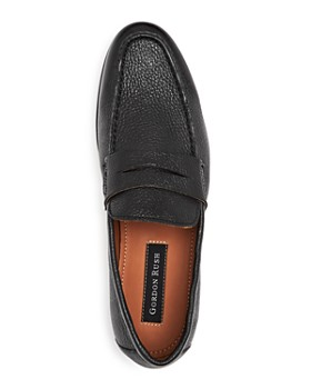 Gordon Rush - Men's Connery Leather Moc Toe Penny Loafers