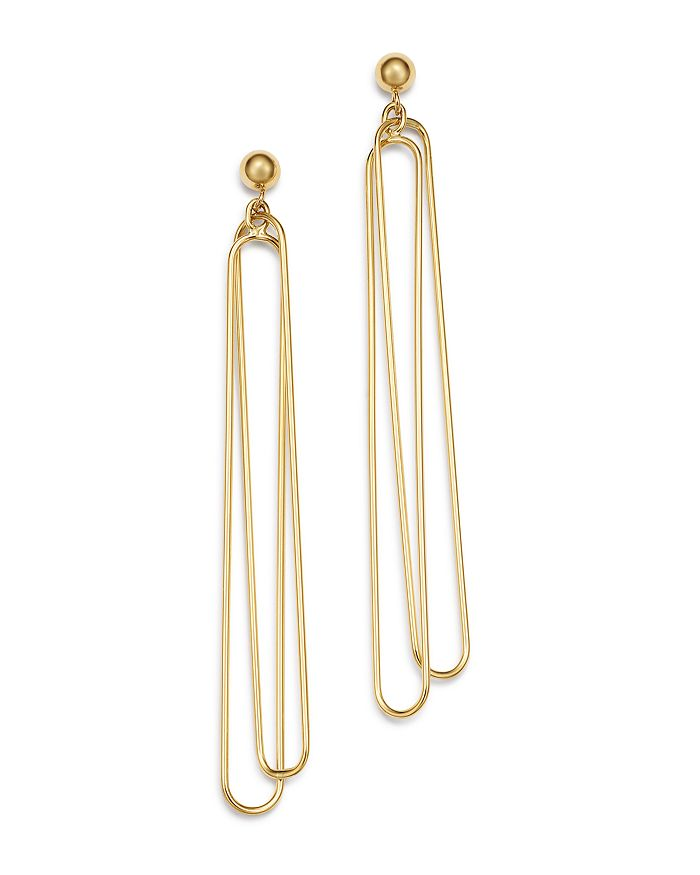 Bloomingdale's - Doubled Oval Wire Drop Earrings in 14K Yellow Gold - 100% Exclusive